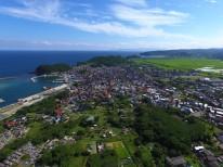 島根県大田市久手町上空から見るドローン映像