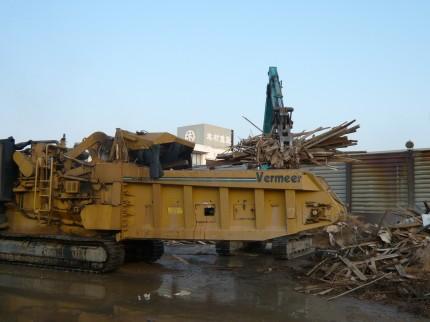 建設廃材の破砕